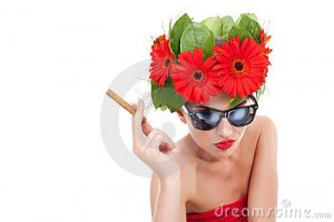a picture of women and smoking